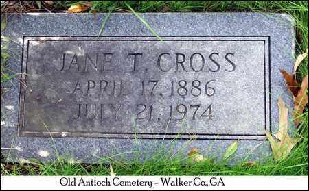 THOMAS CROSS, NANCY JANE - Walker County, Georgia | NANCY JANE THOMAS CROSS - Georgia Gravestone Photos