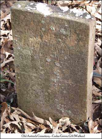 EVITT, J. K. P. - Walker County, Georgia | J. K. P. EVITT - Georgia Gravestone Photos