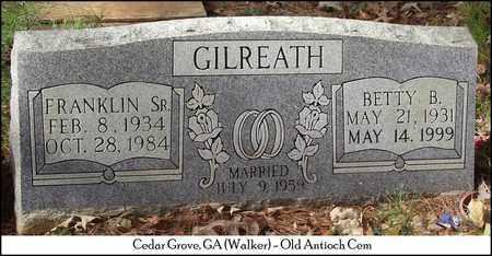 GILREATH, SR., FRANKLIN D. - Walker County, Georgia | FRANKLIN D. GILREATH, SR. - Georgia Gravestone Photos