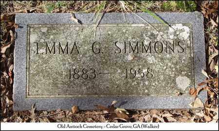 SIMMONS, EMMA G. - Walker County, Georgia   EMMA G. SIMMONS - Georgia Gravestone Photos