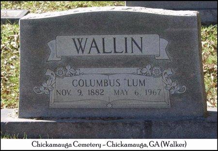 WALLIN, COLUMBUS (LUM) - Walker County, Georgia   COLUMBUS (LUM) WALLIN - Georgia Gravestone Photos