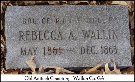 WALLIN, REBECCA ANN - Walker County, Georgia | REBECCA ANN WALLIN - Georgia Gravestone Photos