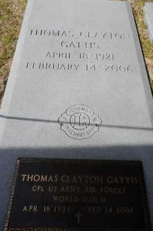 CLAYTON GATTIS, THOMAS - Ware County, Georgia | THOMAS CLAYTON GATTIS - Georgia Gravestone Photos