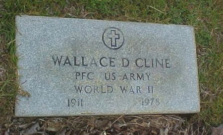 CLINE (VETERAN WWII), WALLACE D. (NEW) - Whitfield County, Georgia   WALLACE D. (NEW) CLINE (VETERAN WWII) - Georgia Gravestone Photos
