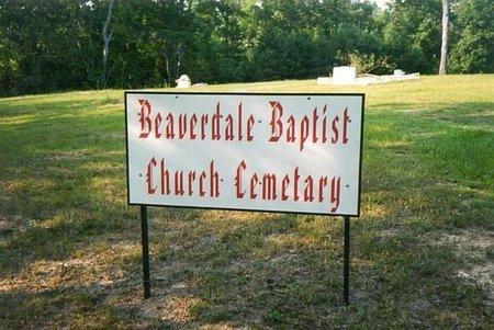*BEAVERDALE BAPTIST CHURCH, SIGN - Whitfield County, Georgia | SIGN *BEAVERDALE BAPTIST CHURCH - Georgia Gravestone Photos