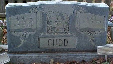 CUDD, MABLE W. - Whitfield County, Georgia   MABLE W. CUDD - Georgia Gravestone Photos